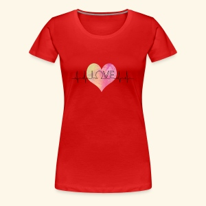 Love Makes My Heart Beat - Women's Premium T-Shirt