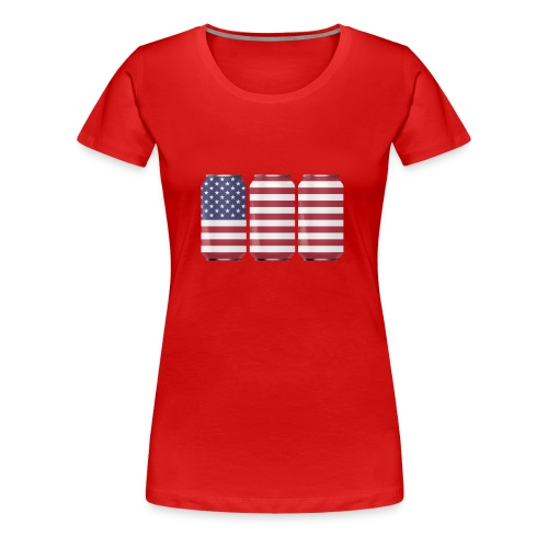 beer can USA Flag - Women's Premium T-Shirt