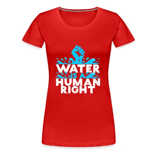 WATER IS A HUMAN RIGHT ENVIROMENTALIST SAVE EARTH - Women's Premium T-Shirt
