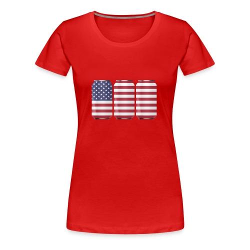 beer can USA Flag - Women's Premium T-Shirt