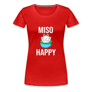 Miso Happy Cute Cate (Neko) - Women's Premium T-Shirt