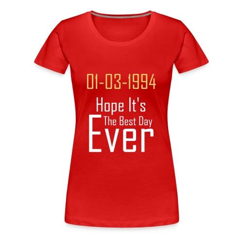 01/03/1994 justin b birthday - Women's Premium T-Shirt