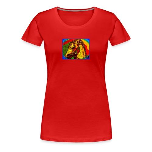 Rainbow Vintage Toy Riding Wonder Horse - Women's Premium T-Shirt