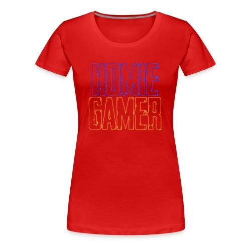 Homie Gamer Clothing (Neon Style) - Women's Premium T-Shirt