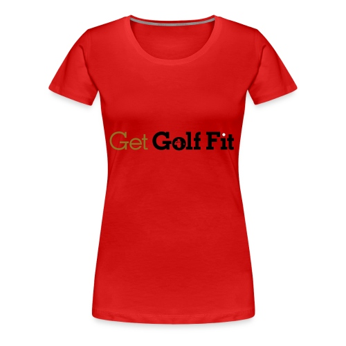 CH GetGolfFit Logo Final Green - Women's Premium T-Shirt