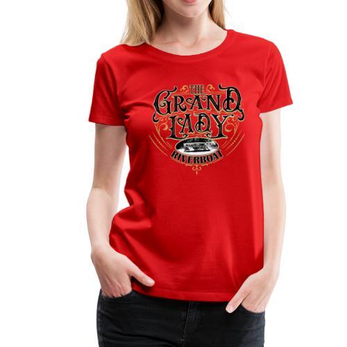 Fancy Riverboat - Black Lettering - Women's Premium T-Shirt