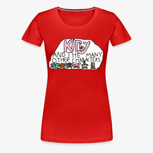Kirby and the many other characters - Women's Premium T-Shirt
