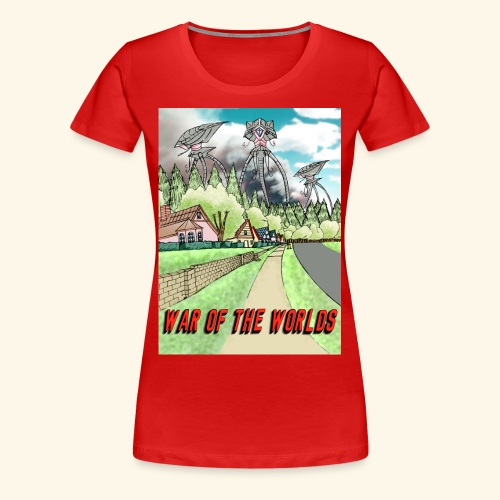 Alien Invasion Poster - Women's Premium T-Shirt