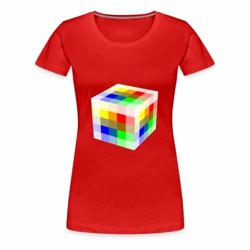 Multi Colored Cube - Women's Premium T-Shirt