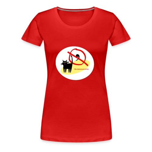 Cat Engages in Fisticuffs - Women's Premium T-Shirt