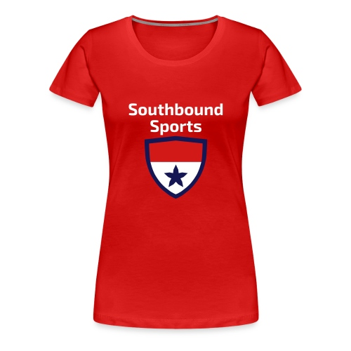 The Southbound Sports Shield Logo. - Women's Premium T-Shirt
