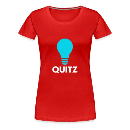 Quitz Blue w/ white text - Women's Premium T-Shirt