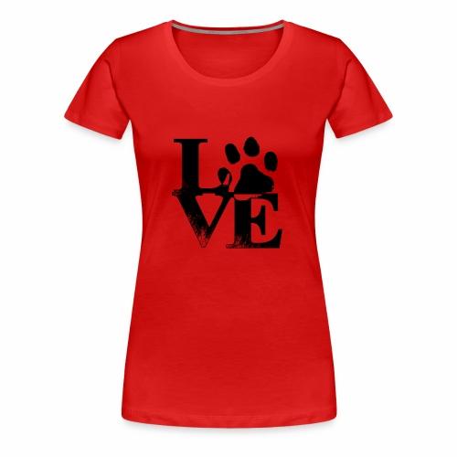 Luv Paw Print - Women's Premium T-Shirt