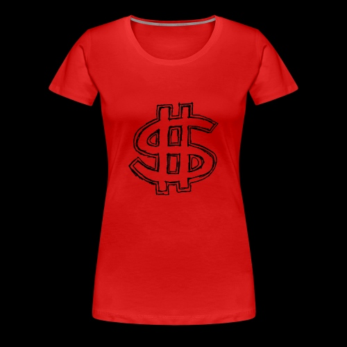 dollar sign drawing 4 - Women's Premium T-Shirt
