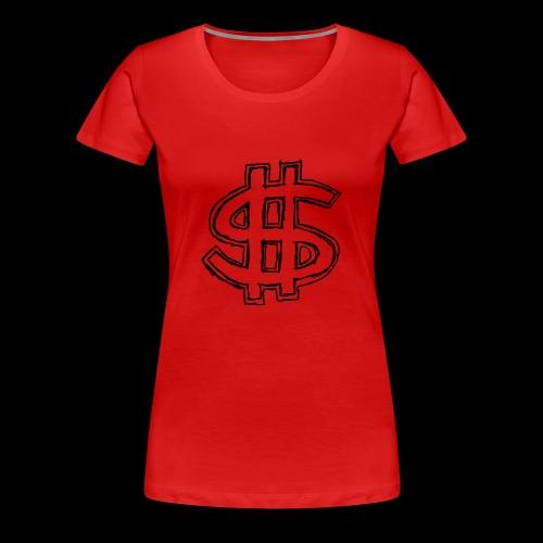 dollar sign drawing 4 - Women's Premium T-Shirt