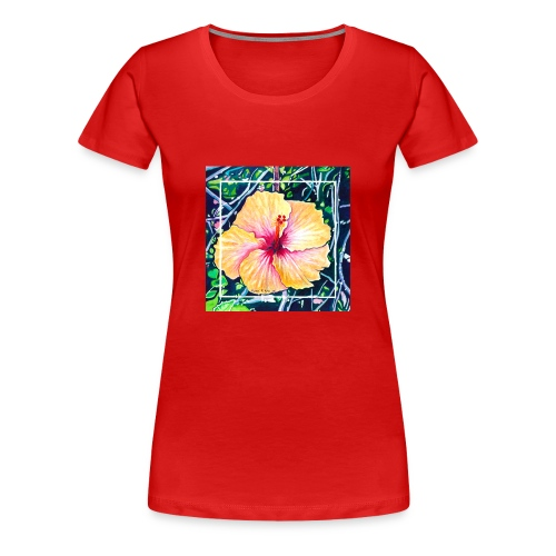 Hibiscus Watercolor - Women's Premium T-Shirt