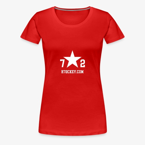72Hockey com logo - Women's Premium T-Shirt