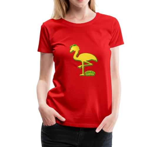 Fruit Flamingo Neon—Lemon - Women's Premium T-Shirt