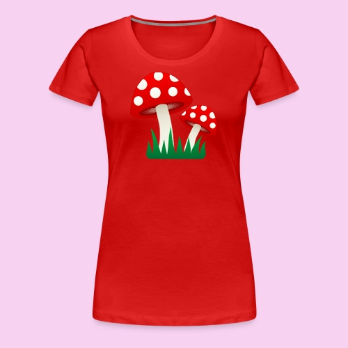 Grassy Shrooms - Women's Premium T-Shirt