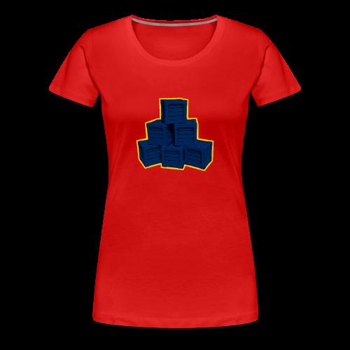 Blue Box LowPoly - Women's Premium T-Shirt