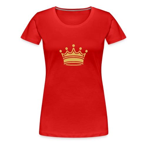 86345757b9d3fa46a0c517bc413fc34e crown clip art tr - Women's Premium T-Shirt