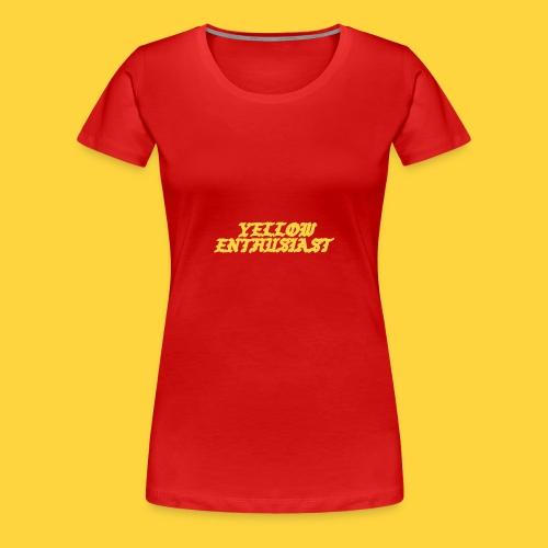 yellow enthusiast - Women's Premium T-Shirt