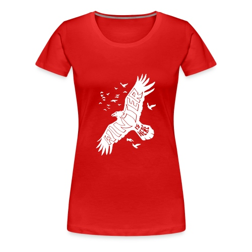 Winter Raven Funny - Women's Premium T-Shirt
