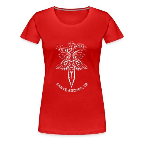 Moth and Dagger Logo - Women's Premium T-Shirt
