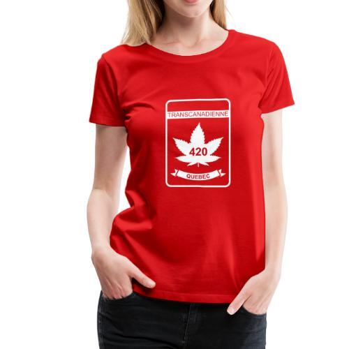 QUEBEC 420 Transcanadienne - Women's Premium T-Shirt