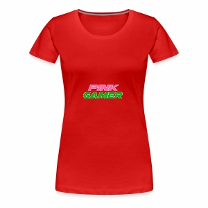 PINK Gamer Logo: Light Outline - Women's Premium T-Shirt