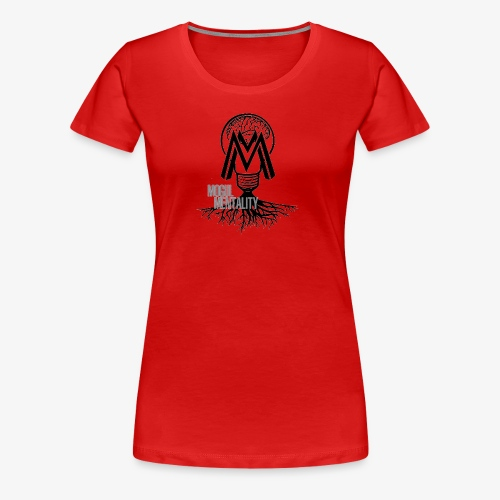 Mogul Mentality Black and White Logo - Women's Premium T-Shirt