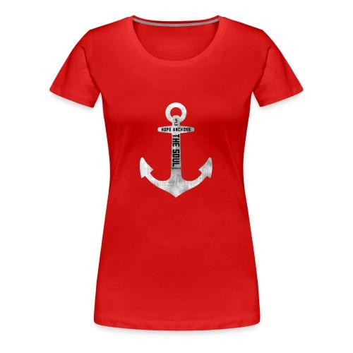 Anchor Hebrew 6:19 - Women's Premium T-Shirt