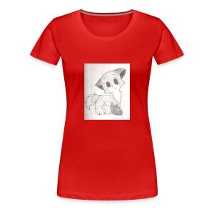 Adorable Drawing Of Anime Fox - Women's Premium T-Shirt