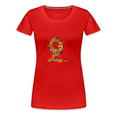 Watercolour Headphone - T-Shirt - Women's Premium T-Shirt