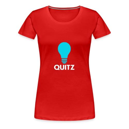 Quitz Blue w/ white text - Women's Premium T-Shirt