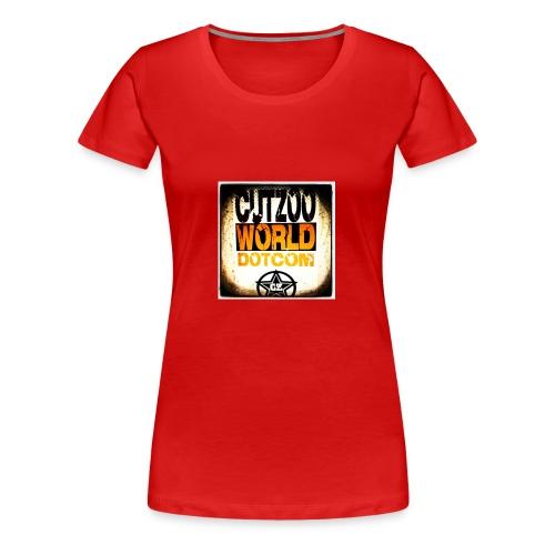 CutZooWorld logo - Women's Premium T-Shirt