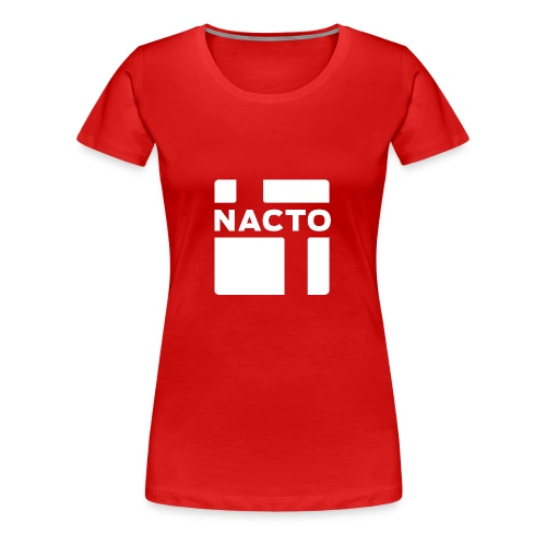 NACTO_logo_white - Women's Premium T-Shirt