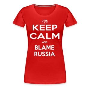 Blame Russia - Women's Premium T-Shirt