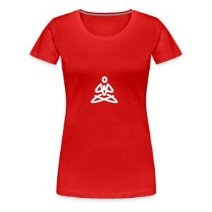 white logo transparent background - Women's Premium T-Shirt