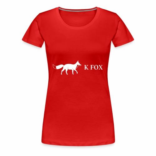 K Fox White - Women's Premium T-Shirt