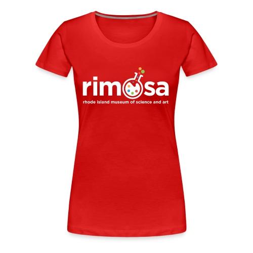 RIMOSA - White Logo w. Museum Full Name - Women's Premium T-Shirt