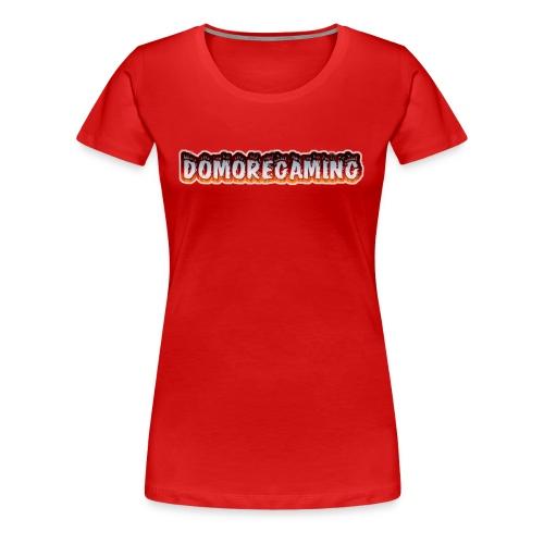 domoregaming on fire - Women's Premium T-Shirt