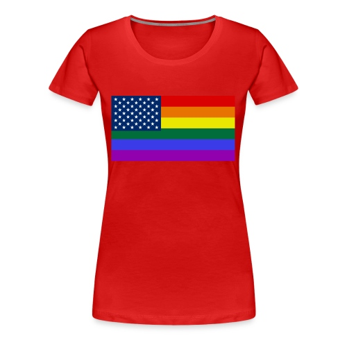 LGBT United States Flag - Women's Premium T-Shirt