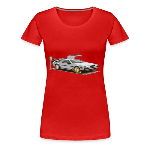 delorean parking meter - Women's Premium T-Shirt