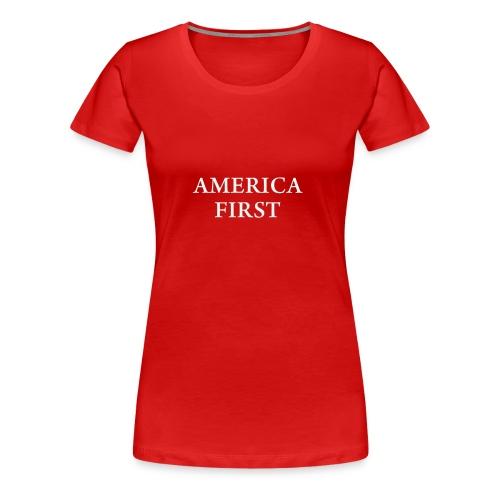 AMERICA FIRST 1Tee shirt - Women's Premium T-Shirt