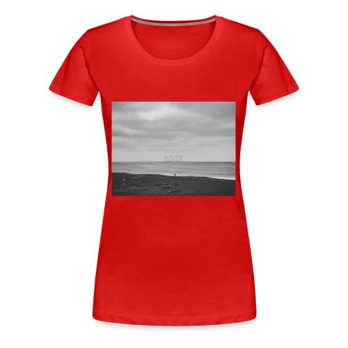 Black and White Beach Photo by Trevor J. Brown - Women's Premium T-Shirt