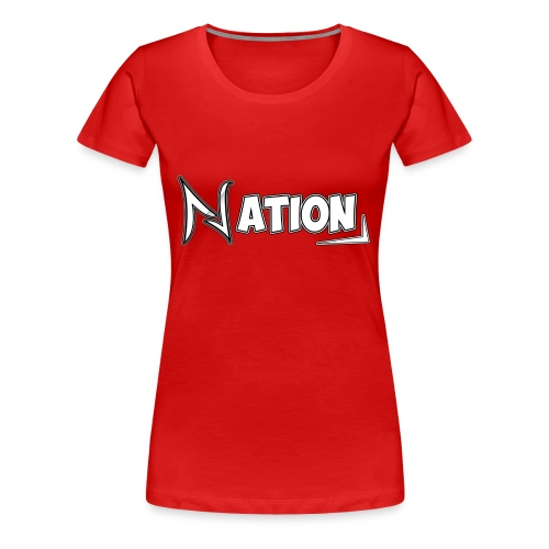 Nation Logo Design - Women's Premium T-Shirt