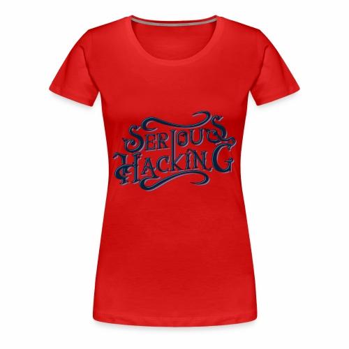 serious hacking decoration design - Women's Premium T-Shirt