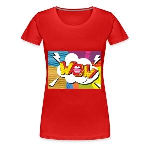 Pop art wow. - Women's Premium T-Shirt