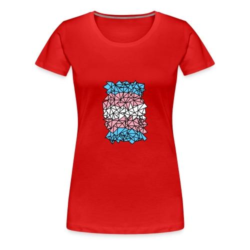 Transgender Crystallized Flag - Women's Premium T-Shirt